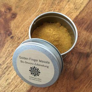 Ayurveda at home Golden Finger Masala Bio-Gewürz-Zubereitung im Shop von Ines Steindel - Ayurveda at home