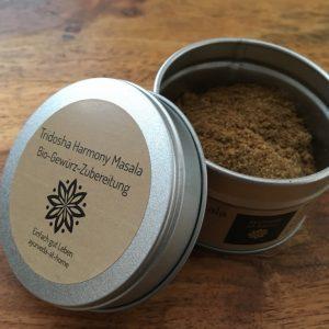 Tridosha Harmony Masala Bio-Gewürz-Zubereitung Gewürzdose mit Aromaverschluß Shop ayurveda Gewürzmischungen