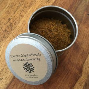 Tridosha Oriental Masala Bio-Gewürz-Zubereitung - Ayurveda Gewürzmischung