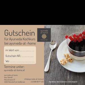 Kochkurs ayurvedisch Kochen Salzburg - Gutschein ayurveda at home