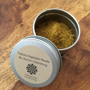 Tridosha Vegetable Masala Bio-Gewürz-Zubereitung Ayurveda Gewürzmischung