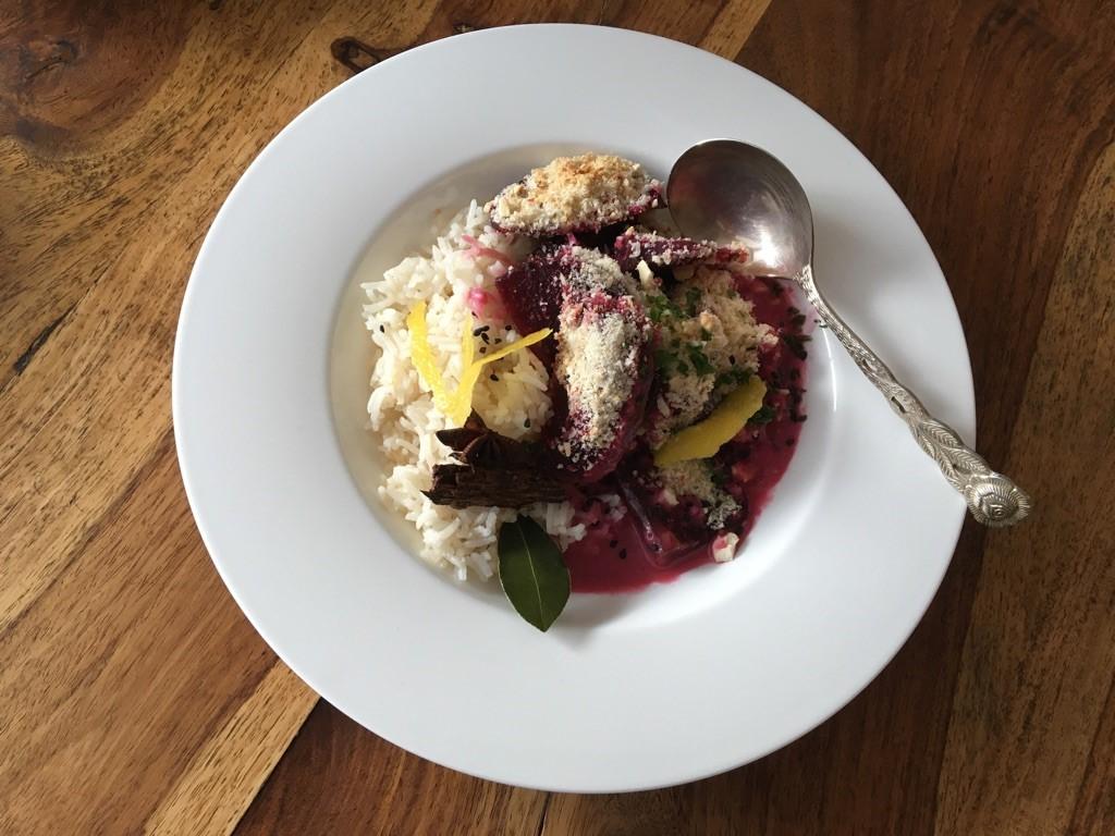 Rezept von Ayurveda at home - Ernährung nach Ayurveda - Rote Beete Kokos Auflauf